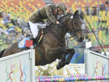 Marosinak jól ment a lovaglás (fotók: Kovács Tamás - MTI)