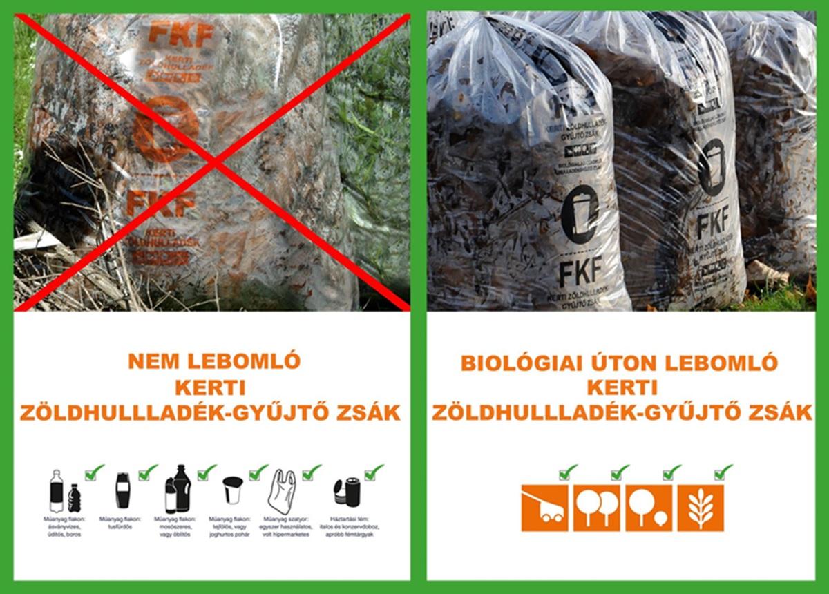 Már csak biológiailag lebomló zsákokba lehet tenni a zöldhulladékot
